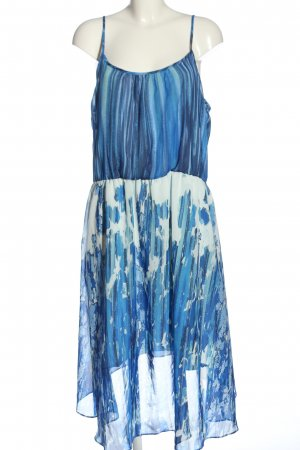 C&A Yessica Trägerkleid blau-wollweiß abstraktes Muster Casual-Look