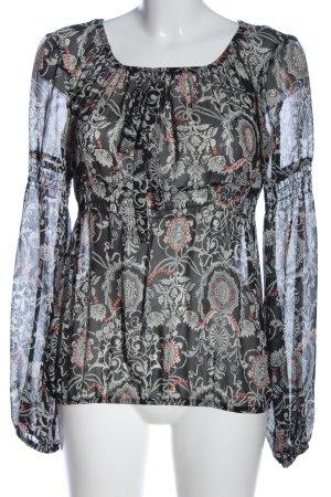 C&A Yessica Transparentna bluzka Abstrakcyjny wzór W stylu casual