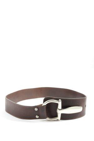 c belt Pasek z imitacji skóry brązowy W stylu casual