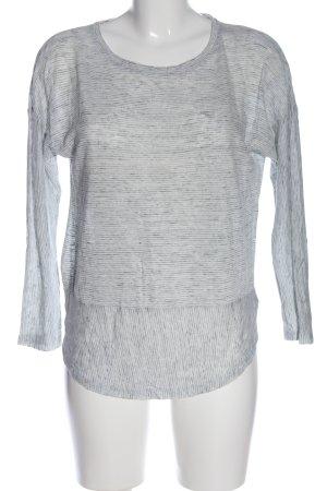 C&C California Blusa in lino grigio chiaro puntinato stile casual