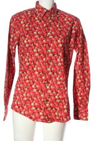 c.doux Shirt met lange mouwen rood volledige print klassieke stijl