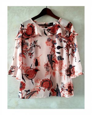 cest paris Blouse Top bright red