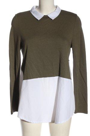 C'est Paris Shirt Blouse khaki-white business style