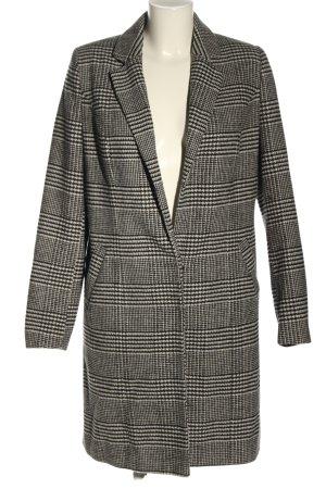 C'est Paris Short Coat black-white check pattern casual look
