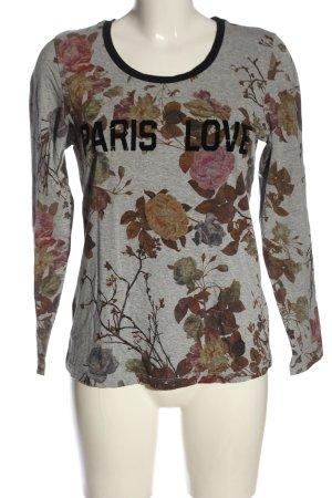 C'est Paris Longsleeve allover print casual look