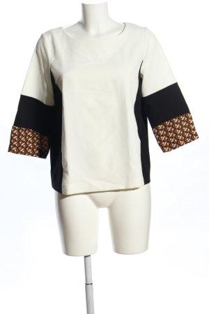 C'est Paris Schlupf-Bluse grafisches Muster Casual-Look