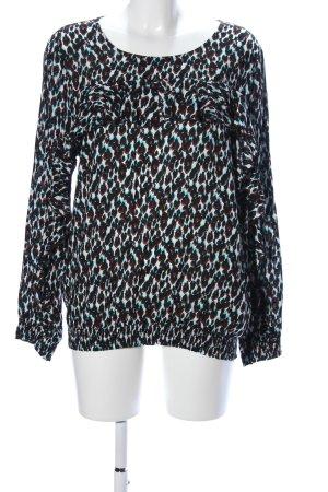 C'est Paris Schlupf-Bluse abstraktes Muster Casual-Look