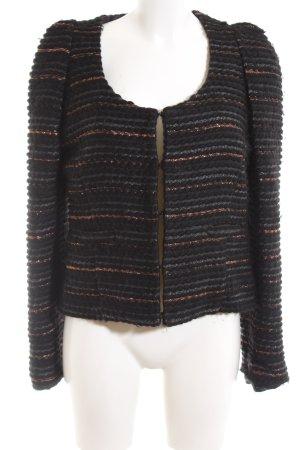 C'est Tout Short Blazer black striped pattern business style