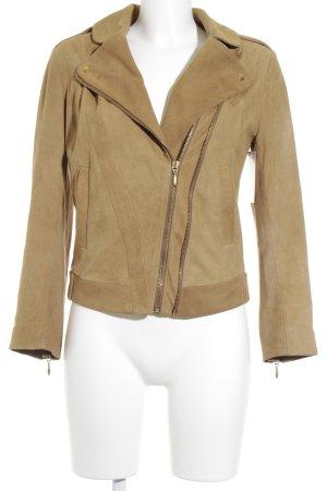 C'est Tout Leather Jacket camel casual look
