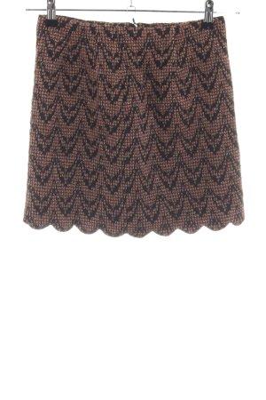 C'est Tout Miniskirt brown-black allover print casual look