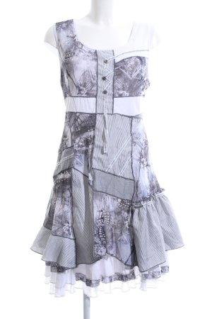 Robe à volants motif abstrait style mode des rues