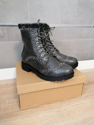 C'M Paris Boots Stiefelette grau neu 37
