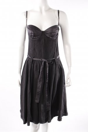 Costume National Robe bustier noir