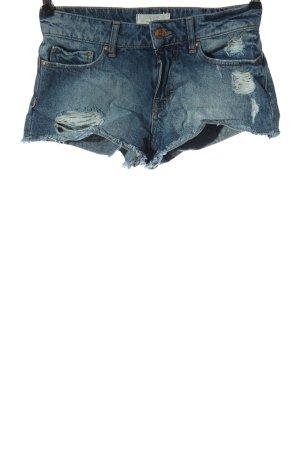 c.o.j Spijkershort blauw casual uitstraling
