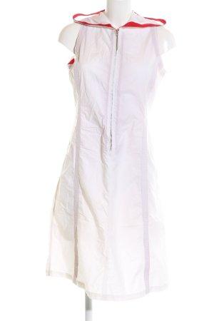 C.P. Company Vestido con capucha blanco-rojo look casual