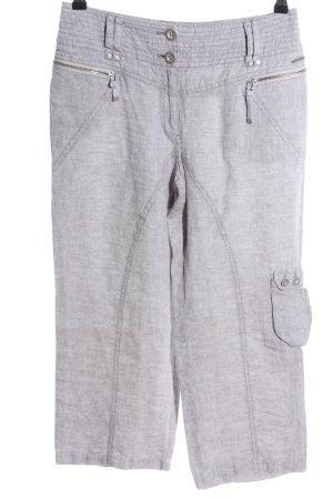 Pantalon en lin gris clair moucheté style décontracté
