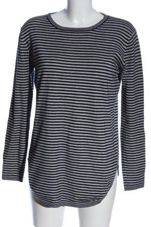 c&s Pull tricoté gris clair-noir moucheté style décontracté