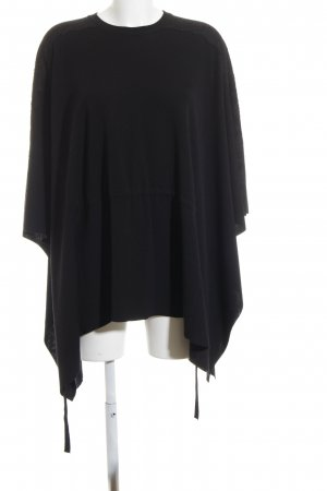 C. Valentino Knitted Poncho black casual look
