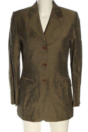 C2C Long Blazer bronze-colored striped pattern business style