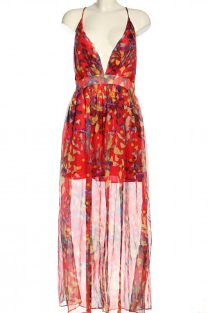 CA Mode Maxi-jurk abstract patroon casual uitstraling