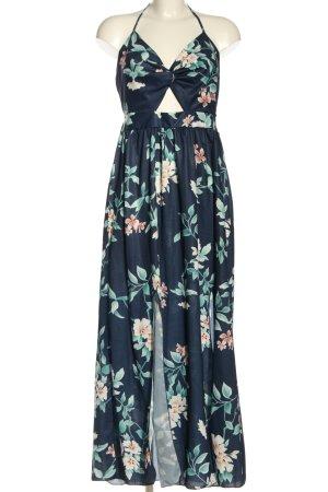 CA Mode Halter Dress blue allover print elegant