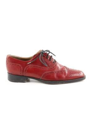 Wingtip Shoes red business style