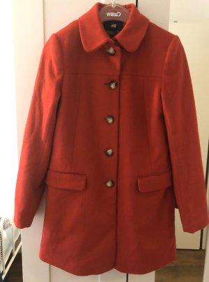 H&M Heavy Pea Coat dark red