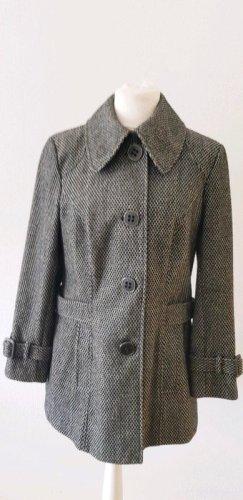 Heavy Pea Coat black-silver-colored wool