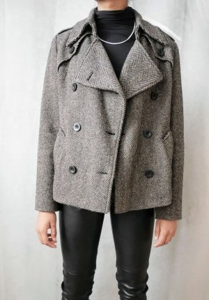 Milo Coats Pea Jacket black-beige