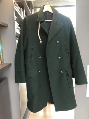 Camplin Heavy Pea Coat dark green