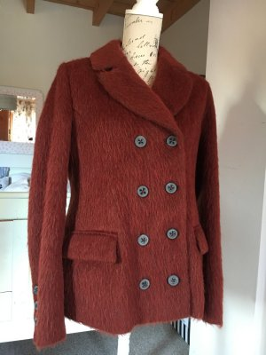 Hugo Boss Pea Jacket carmine alpaca wool