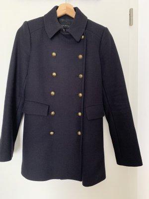 Zara Pea Jacket dark blue