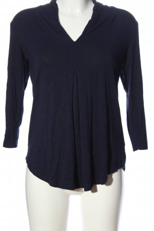 Cable & Gauche Long Sleeve Blouse blue casual look