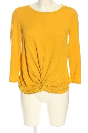 Cable & Gauche Top à manches longues orange clair style décontracté