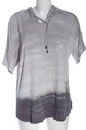 cable & gauge Top à capuche gris clair gradient de couleur style décontracté