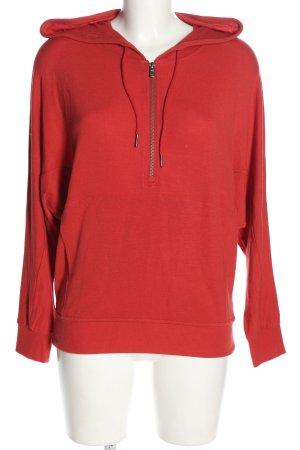 cable & gauge Sweatshirt met capuchon rood casual uitstraling