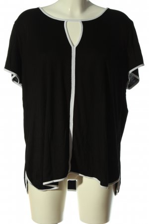 cable & gauge Bluzka z krótkim rękawem czarny-biały W stylu casual
