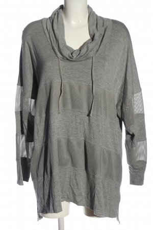 cable & gauge Long Sweater light grey flecked casual look