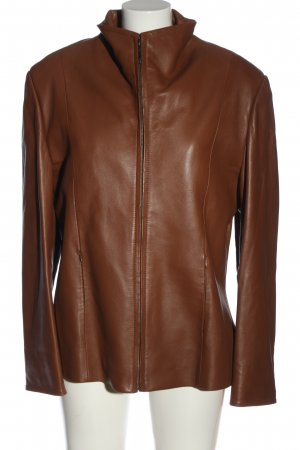 Cabrini Faux Leather Jacket brown casual look