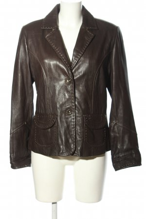 Cabrini Leather Blazer brown casual look