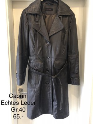 Cabrini Leather Coat dark brown