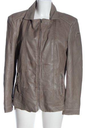 Cabrini Veste en cuir gris clair style décontracté