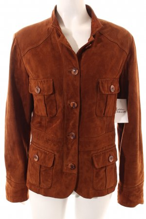 Cabrini Leather Jacket light brown casual look