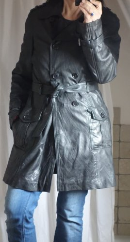 Cabrini Leather Coat black leather
