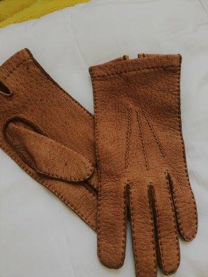 Szendelbacher Leather Gloves cognac-coloured leather