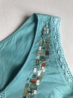 Cacharel Robe trapèze multicolore coton