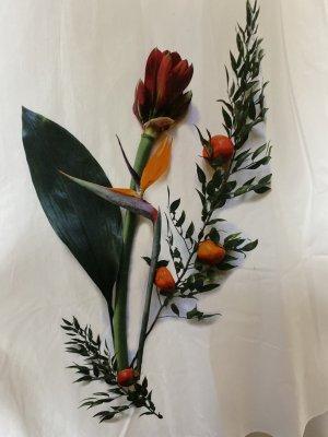 Cacharel Robe à bretelles multicolore