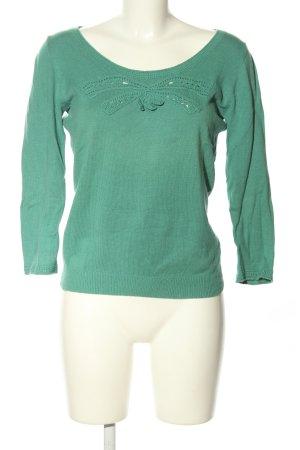 Cacharel Pull tricoté vert style décontracté