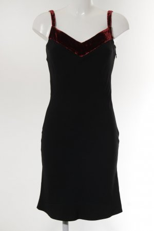 Cacharel Pinafore dress black-carmine party style