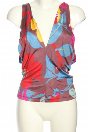 Cacharel Strappy Top allover print casual look